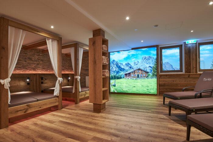 Alpenhotel Fischer, Wellnessbereich, Ruheliegen 2er